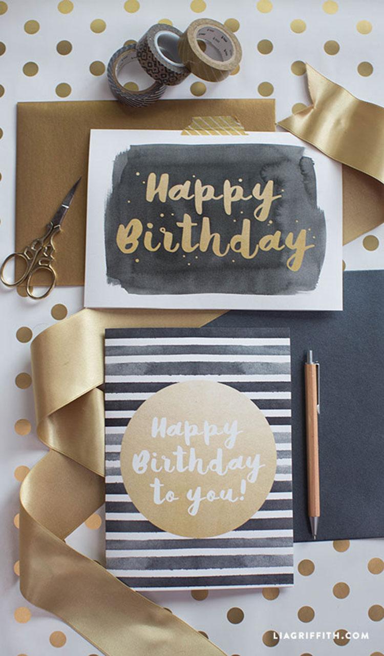 Modern Happy Birthday Card - Lia Griffith