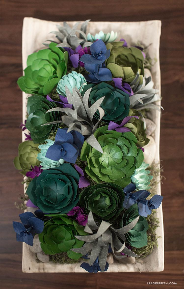 DIY_Paper_Succulent_Centerpiece