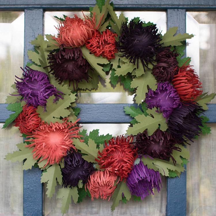 Fall Spider Mum Wreath
