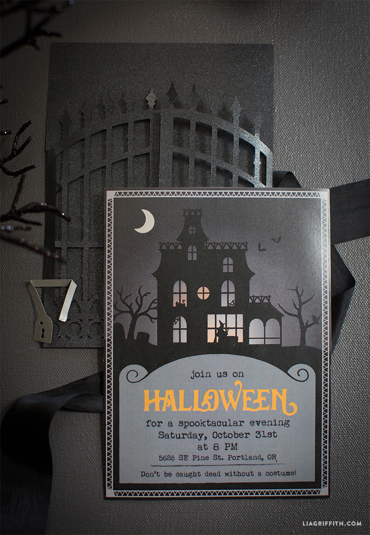 Download Halloween Party Template & Cut File Image