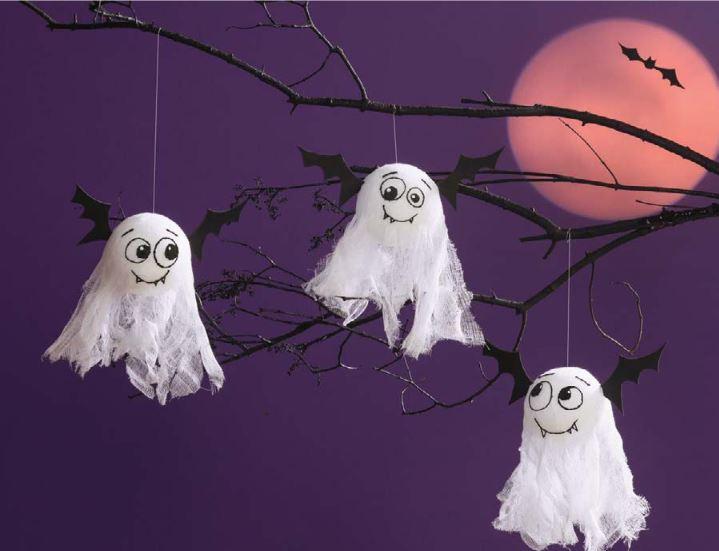 Hanging Bat Ghosts