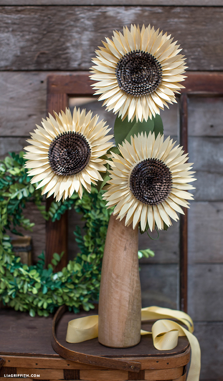 Diy Paper Sunflower Lia Griffith