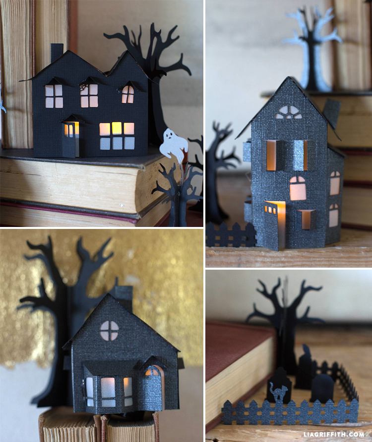 3D paper haunted village for Halloween