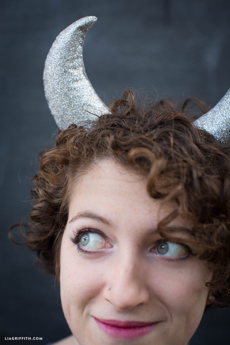 DIY horns for Halloween headband