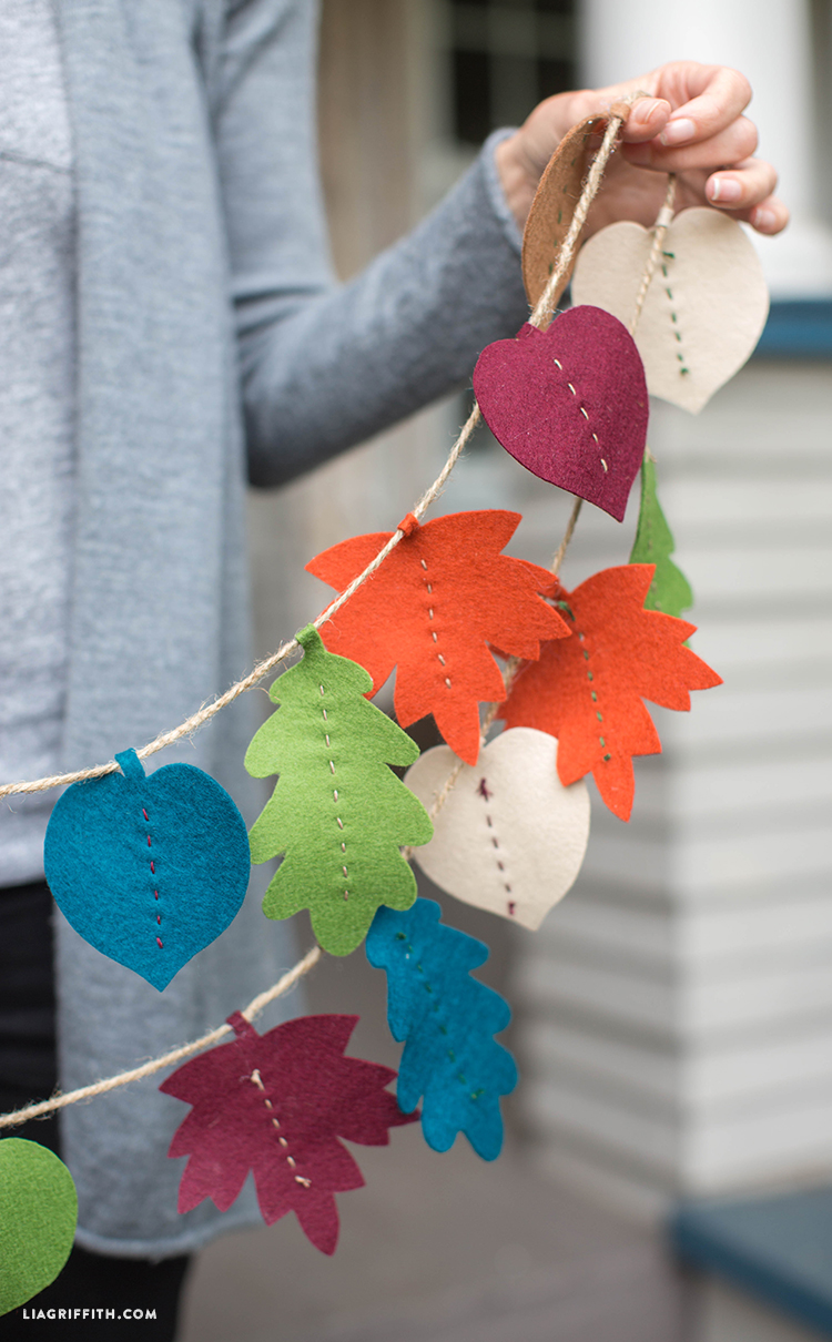 Diy Fall Leaf Garland Lia Griffith