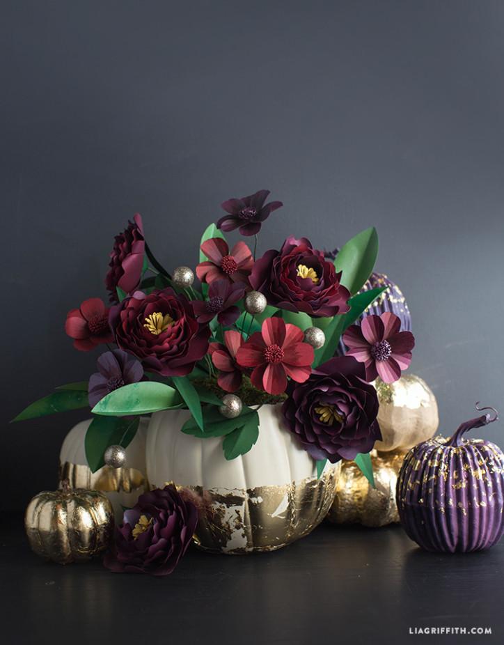Fall_Gold_Foil_Pumpkin_Flowers
