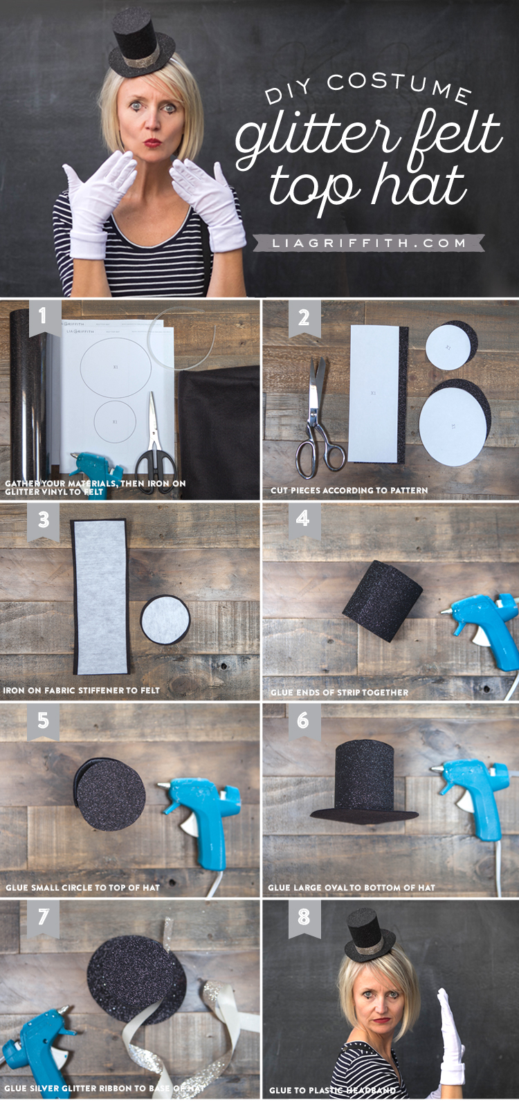 Photo tutorial for mini DIY top hat by Lia Griffith