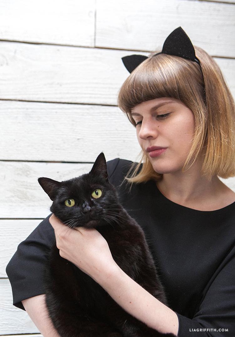 Cute Crafty Diy Felt Cat Ears For Halloween Lia Griffith