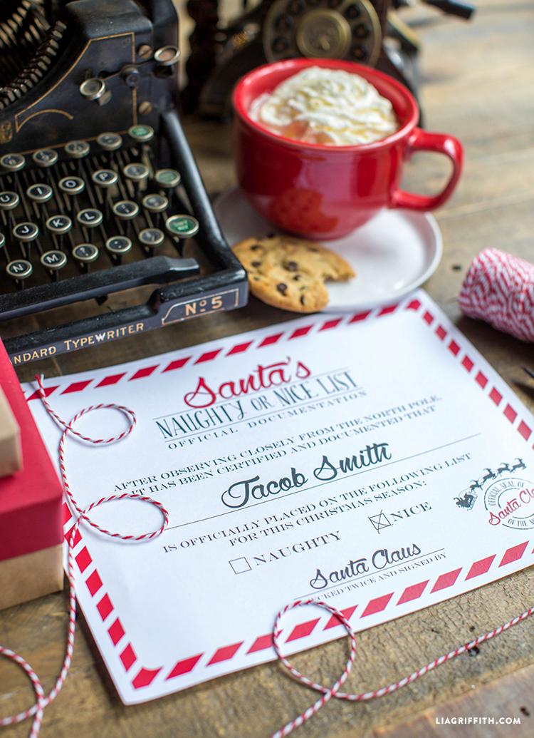 Certificate_Naughty_Nice_Santa