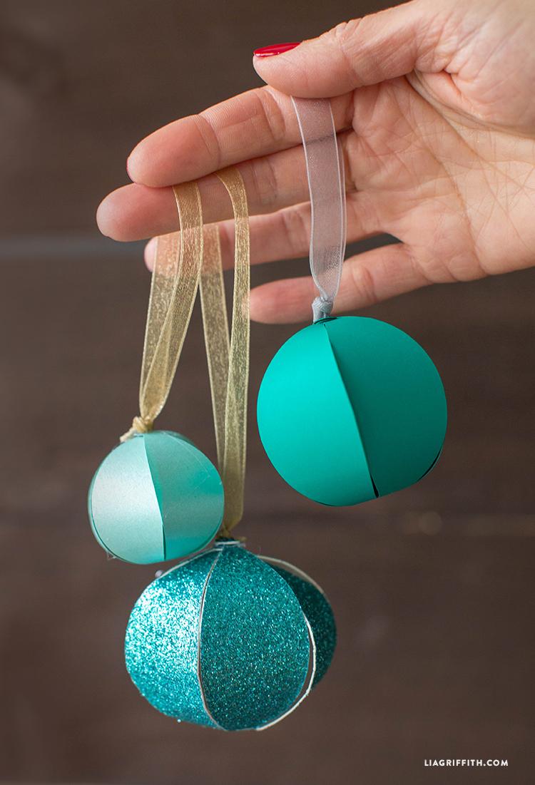 DIY_Paper_Ball_Teal_Ornaments