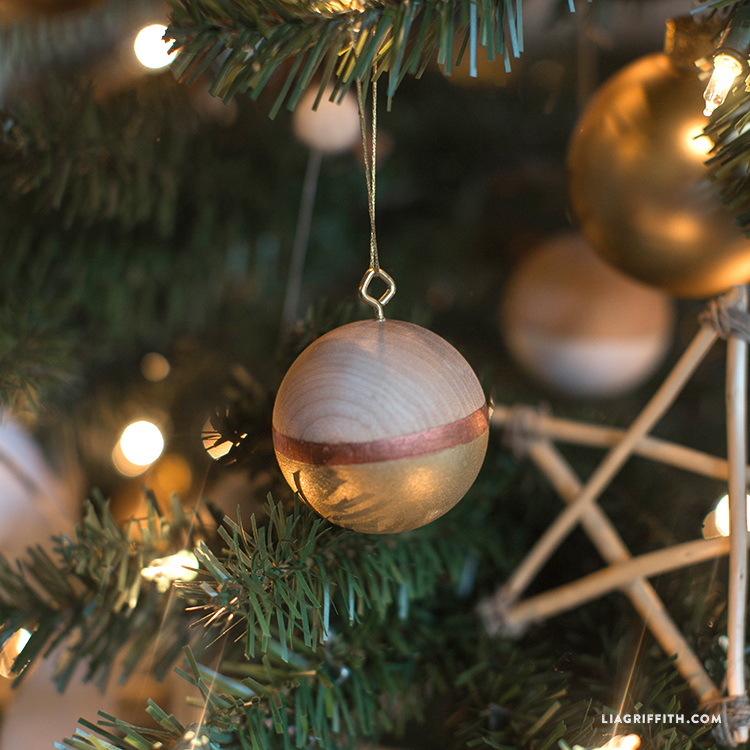 Painted Wooden Ball Ornament Lia Griffith