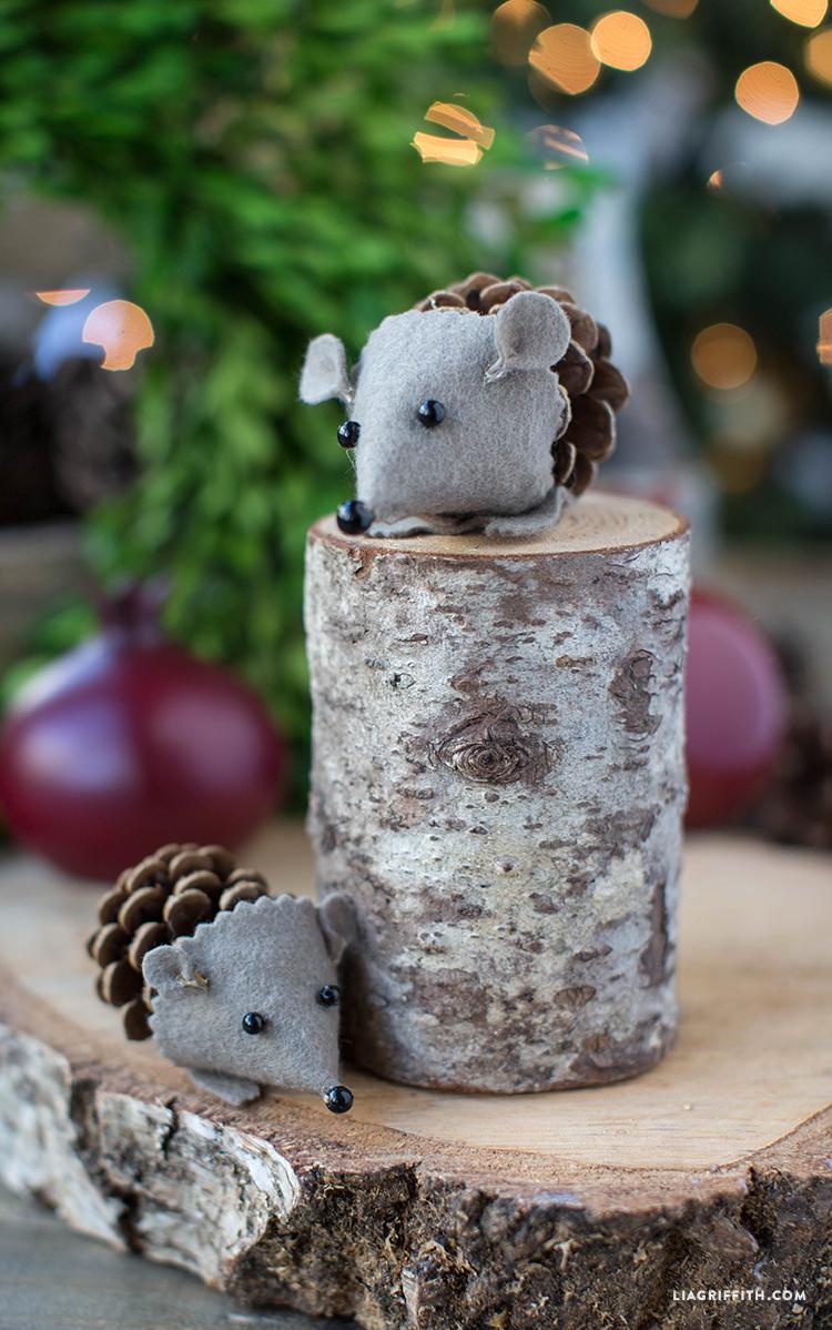 Pinecone_Felt_Hedgehog_Craft