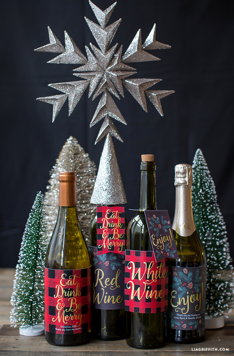 Christmas_Plaid_Gift_Wine_Labels
