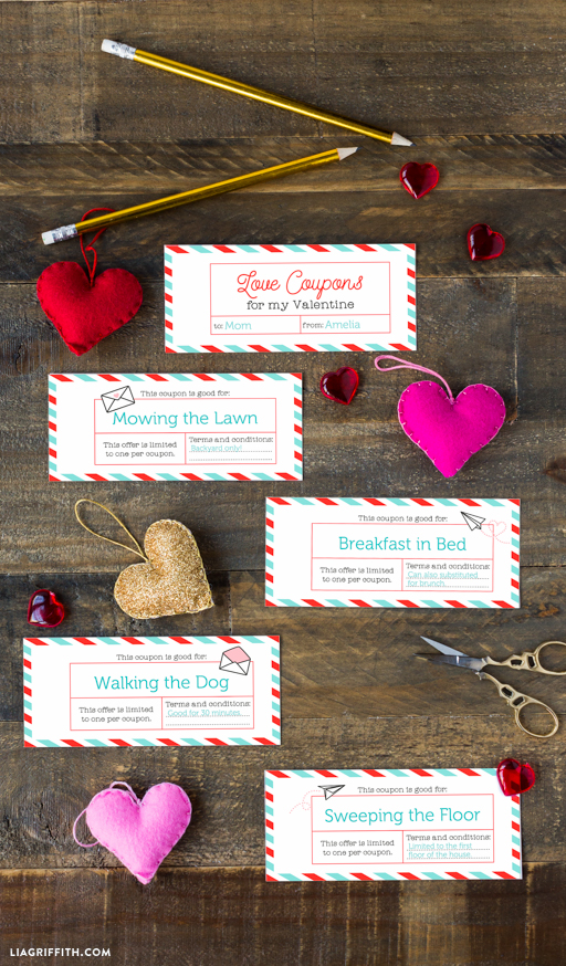 Editable Coupons for Valentines Day