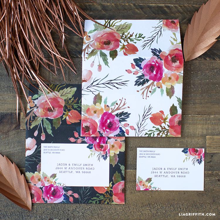 Floral Mailing Labels