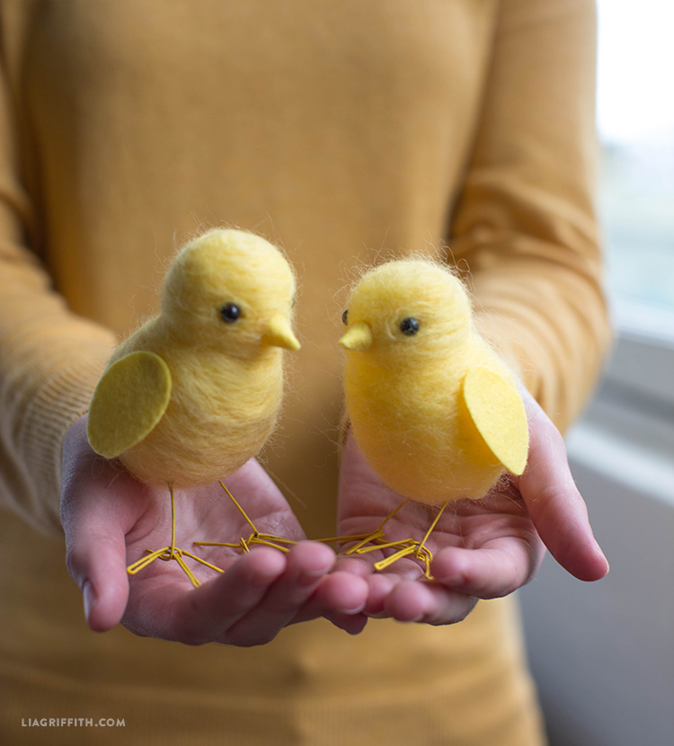 Needle Felted Chicks