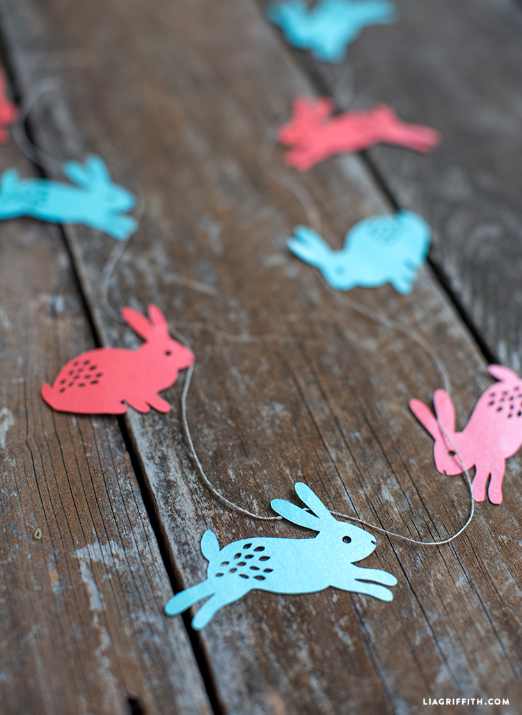 Papercut Easter Garland
