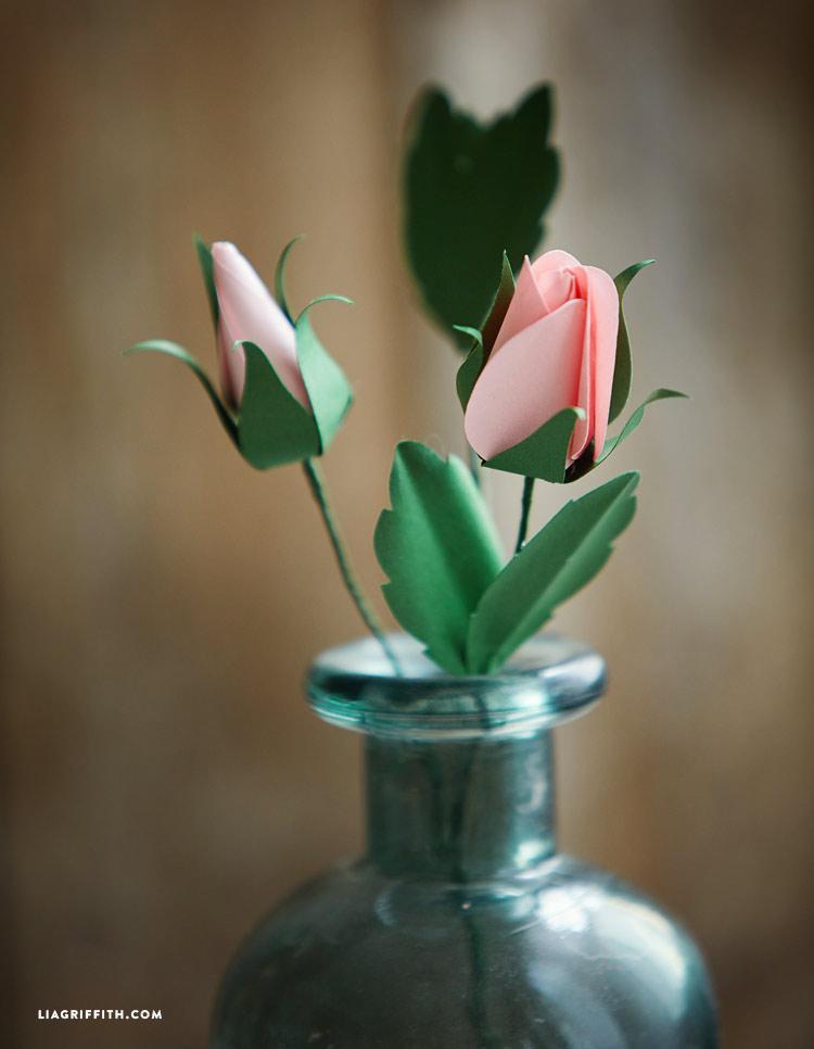 Paper Rose Bud