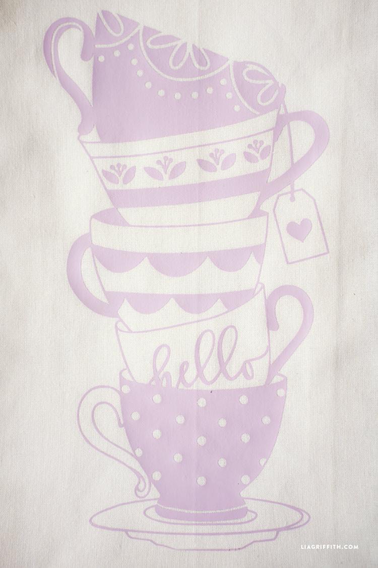 Teacup Tea Towel