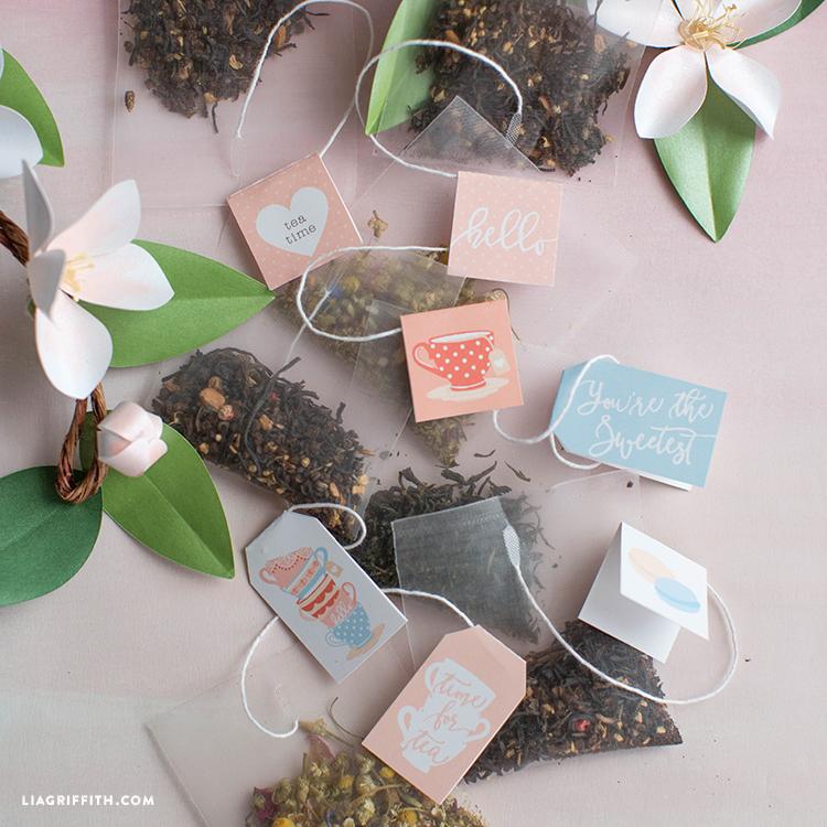 Printbale tea tags