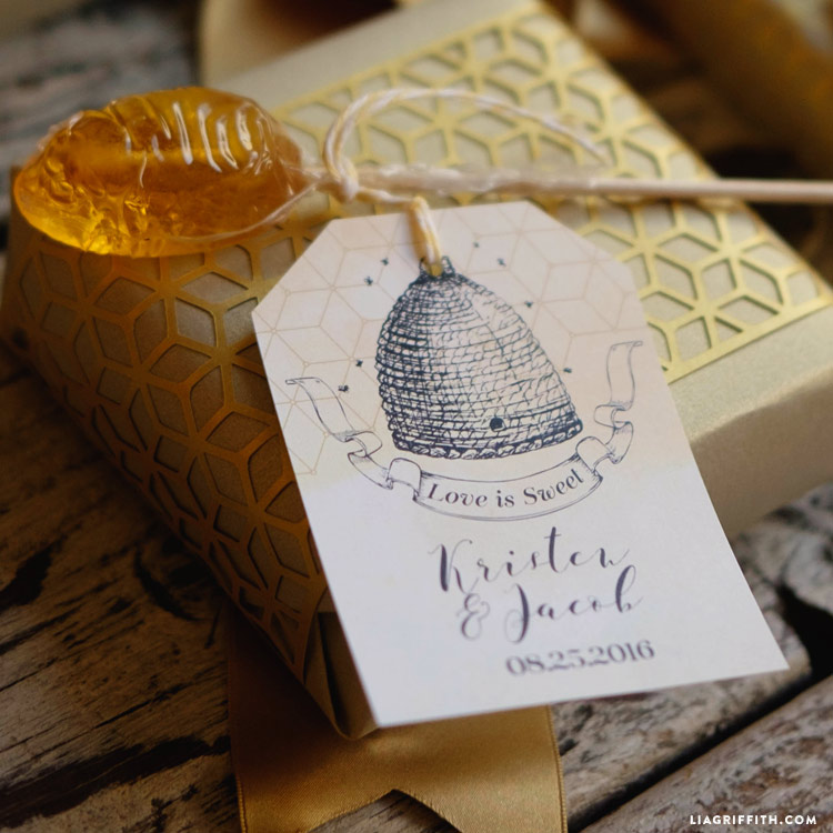 Honey Bee Wedding Tags