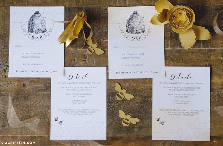 Honey Bee Wedding Invitations
