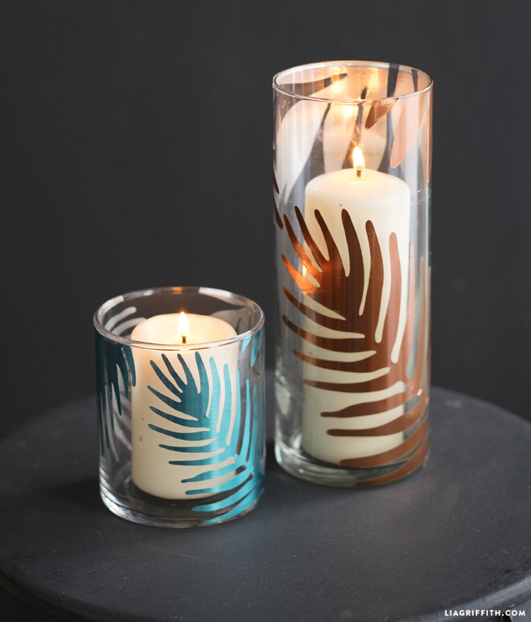 Tropical Candle Decals