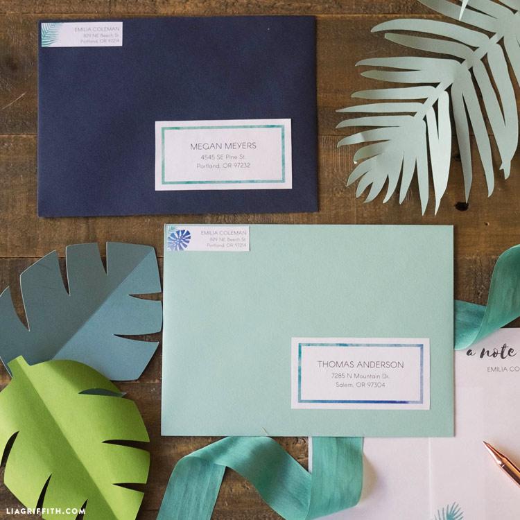 Tropical Address Labels