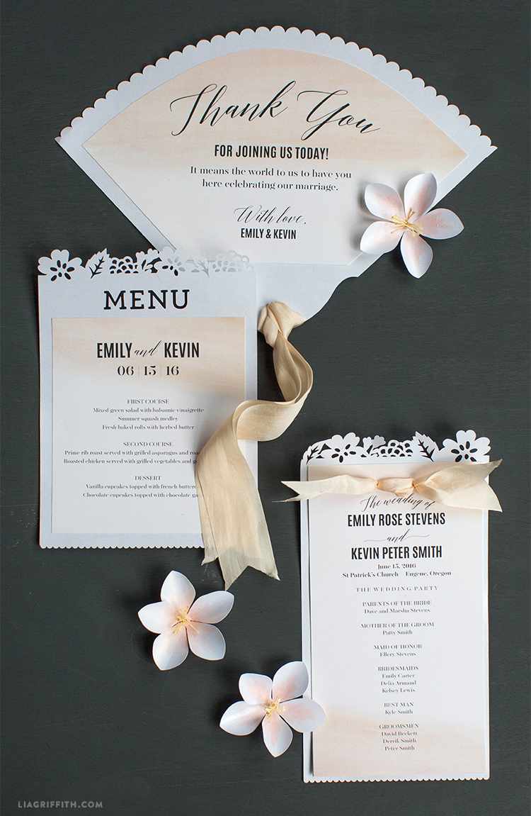 Wedding Day Paper Goods