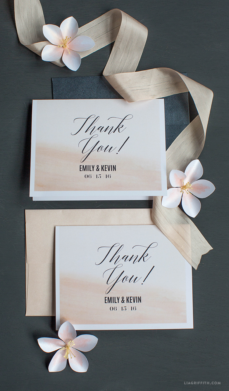 Blush Thank You Cards