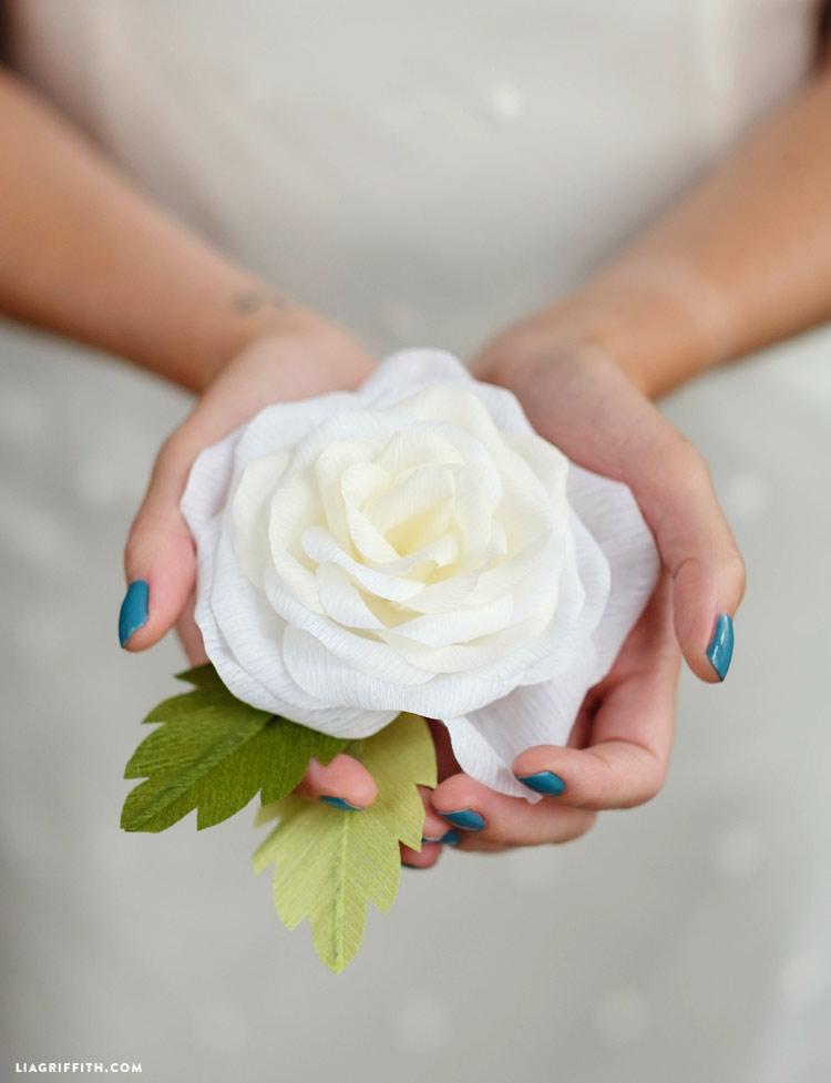 Crepe Paper Garden Rose