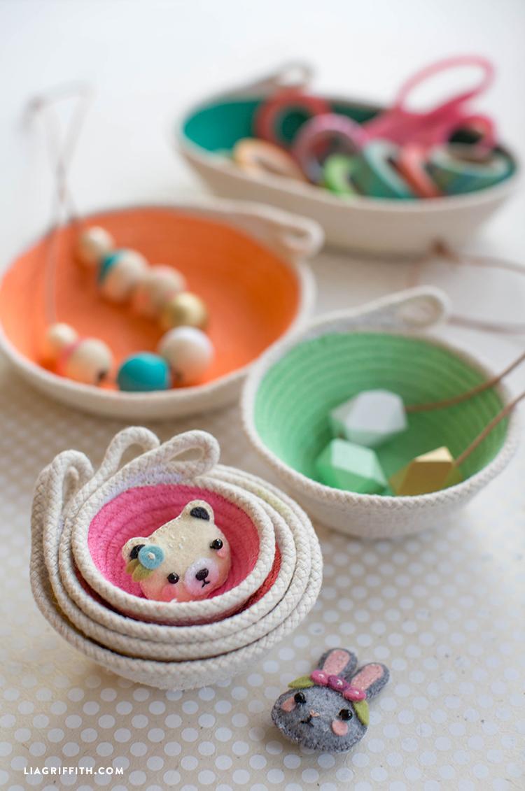 Cotton Clothesline Mini Bowls