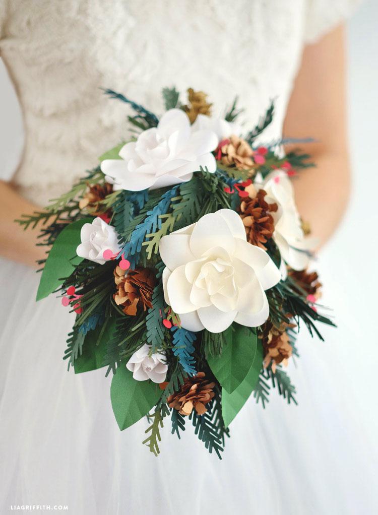 Paper Wedding Bouquets