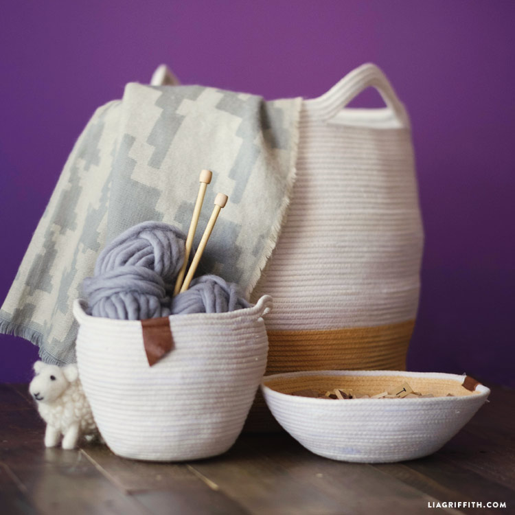 organization cotton baskets