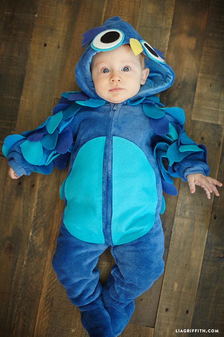 DIY owl Baby Halloween Costume