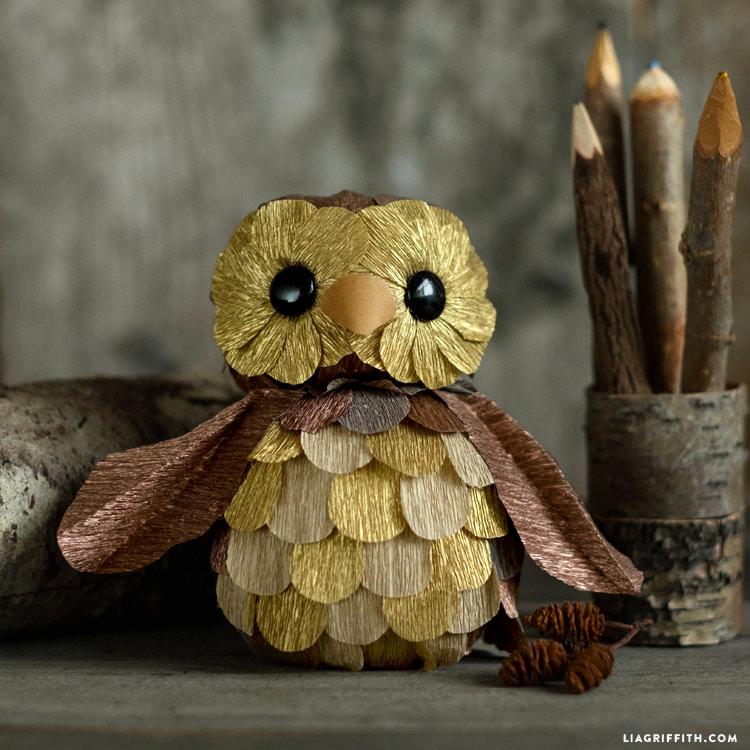 Crepe Paper Owl