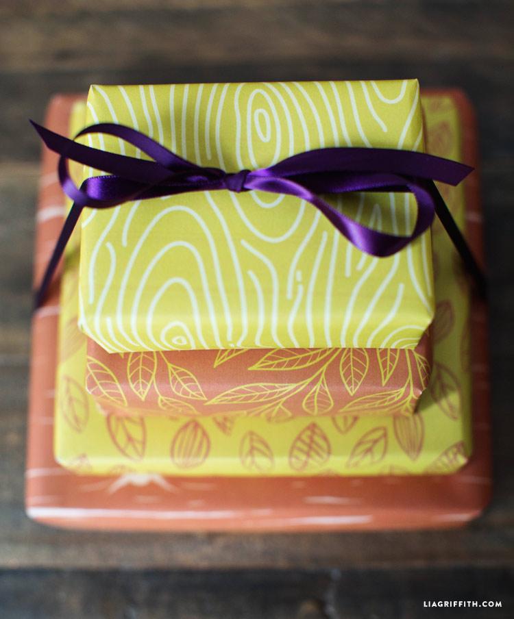 Fall Gift Wrap