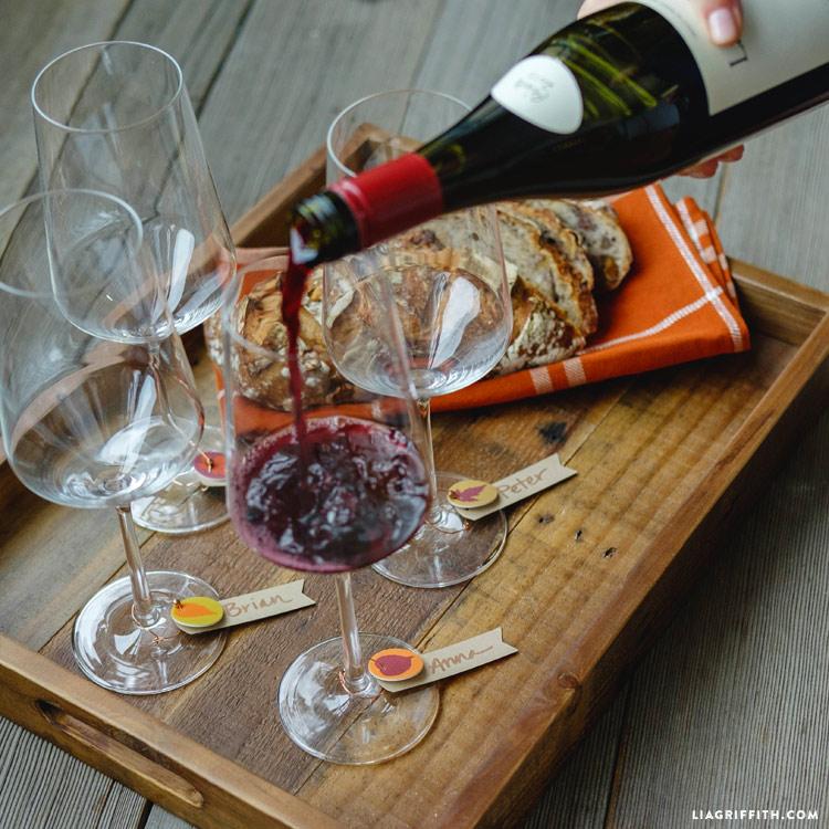 Fall Wine Charms