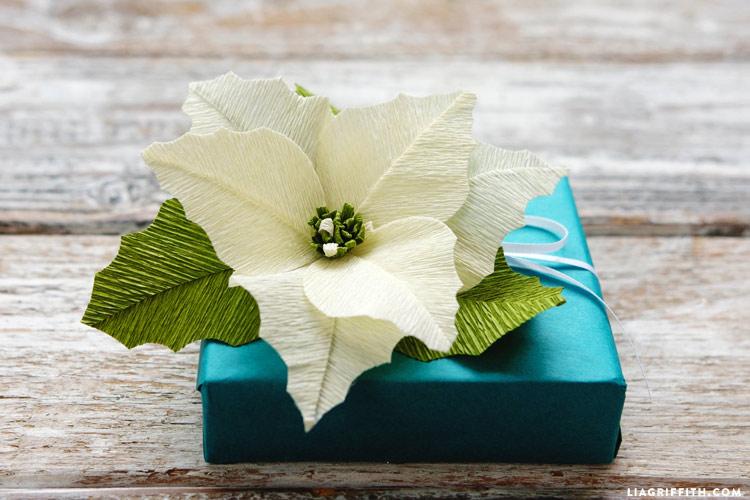 Crepe Paper Poinsettias