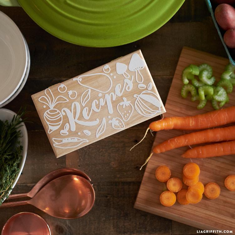 Make your own recipe box
