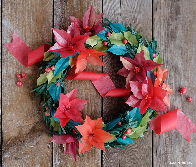 Make your own tissue paper wreath