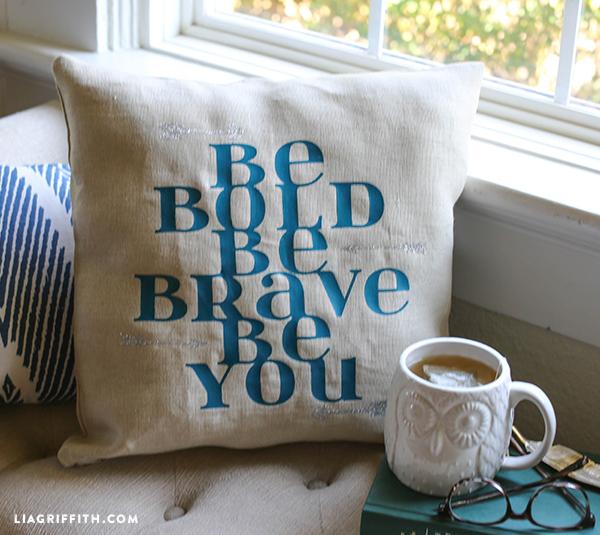 DIY Inspirational Pillow