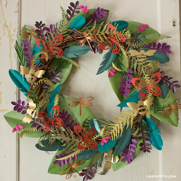 Boho Paper Wreath