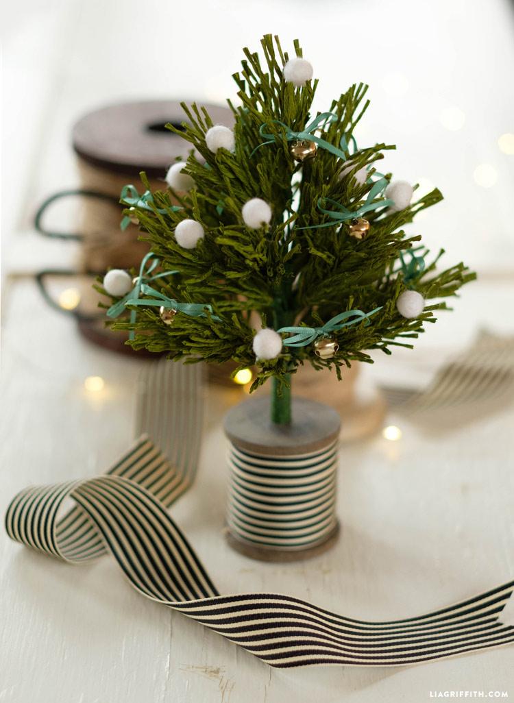 Crepe Paper Pine Trees