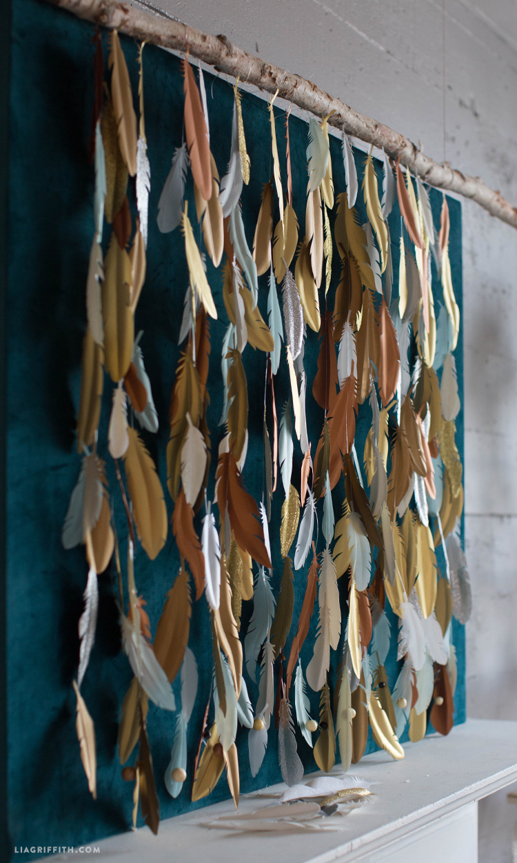 Paper Feather Backdrop