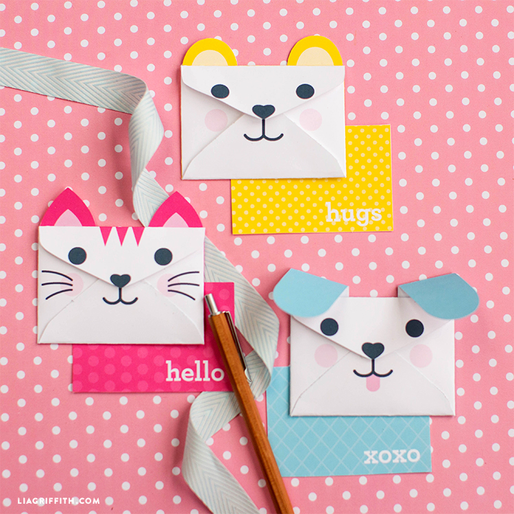 Printable Animal Envelopes