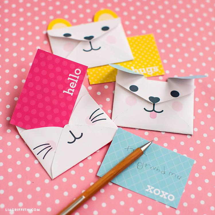 Mini Animal Envelopes