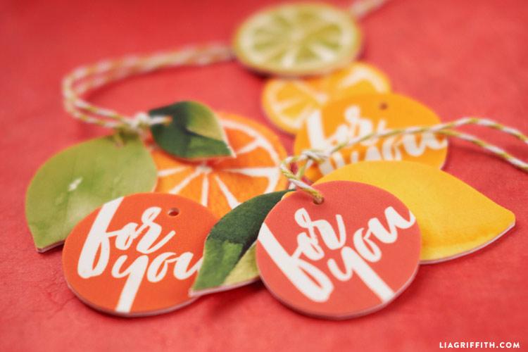DIY Citrus Gift Tags