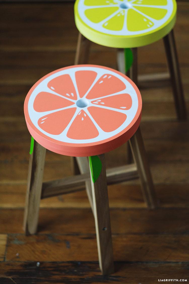 Grapefruit Stool