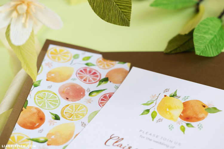 Printable Citrus Invitations